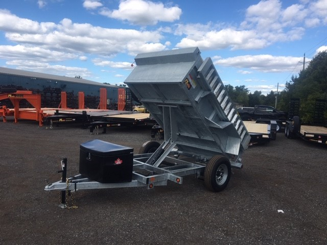 Galvanized Scissor Lift Dumps - Galvanized 2-1/2 ton SA GD Scissor Lift