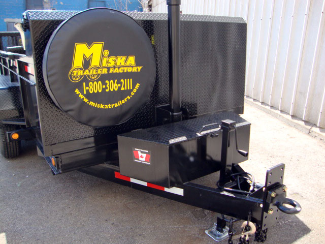 "Front Mount Dump Trailers - 7 ton ""Super""™ Dump Trailer"