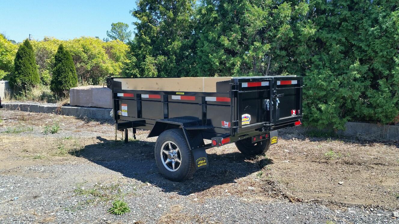 25k Lift Axle For Trailer : Miska trailer factory scissor lift dump trailers