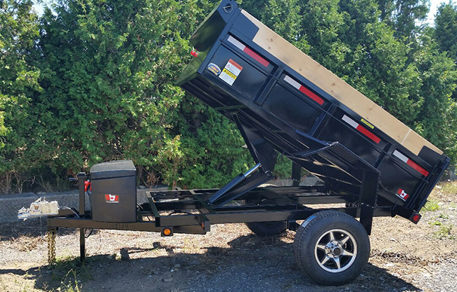 Scissor Lift Dump Trailers - Single Axle 2-1/2 ton Scissor Lift