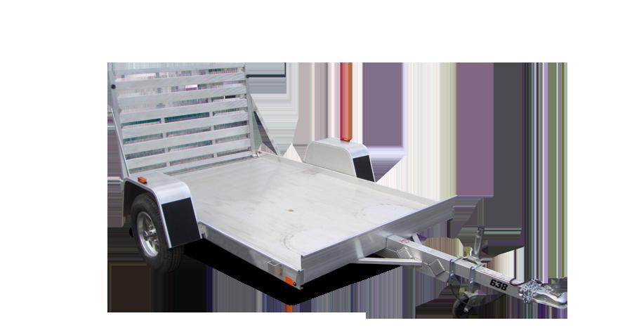 "Single Axle Utility - 638 (63"" x 8') Utility Trailer"