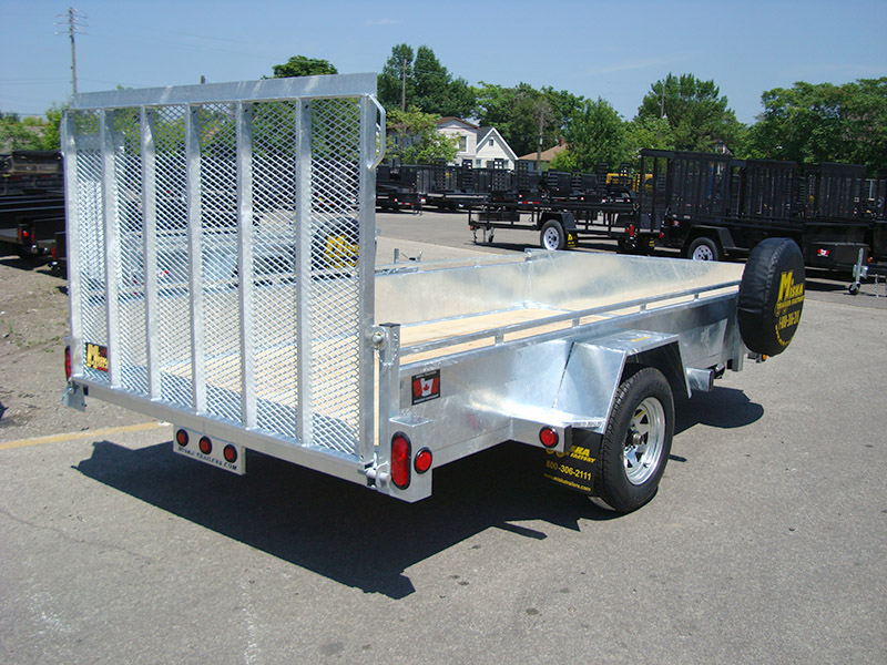 Galvanized Single Axles - Galvanized 6 x 10 Single Axle