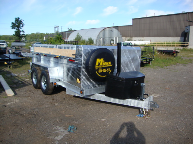 "Galvanized Front Mount Dumps - Galvanized 7 ton ""Super""™ Dump"