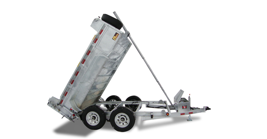 Galvanized Front Mount Dumps - Galvanized 3 1/2 ton Dump Trailer