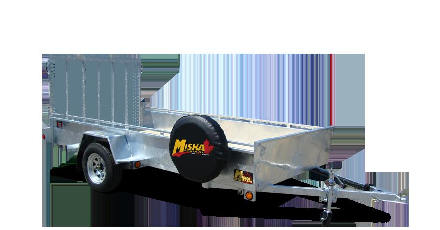 Galvanized Single Axles - Galvanized 6 x 12 Single Axle
