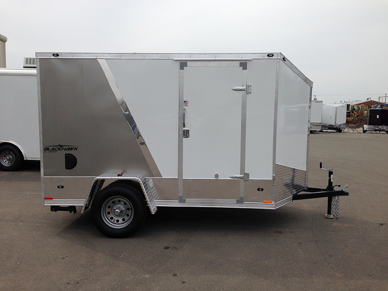 Miska Blackhawk Motorcyle Hauler SBHT - 6' Wide Single Axle