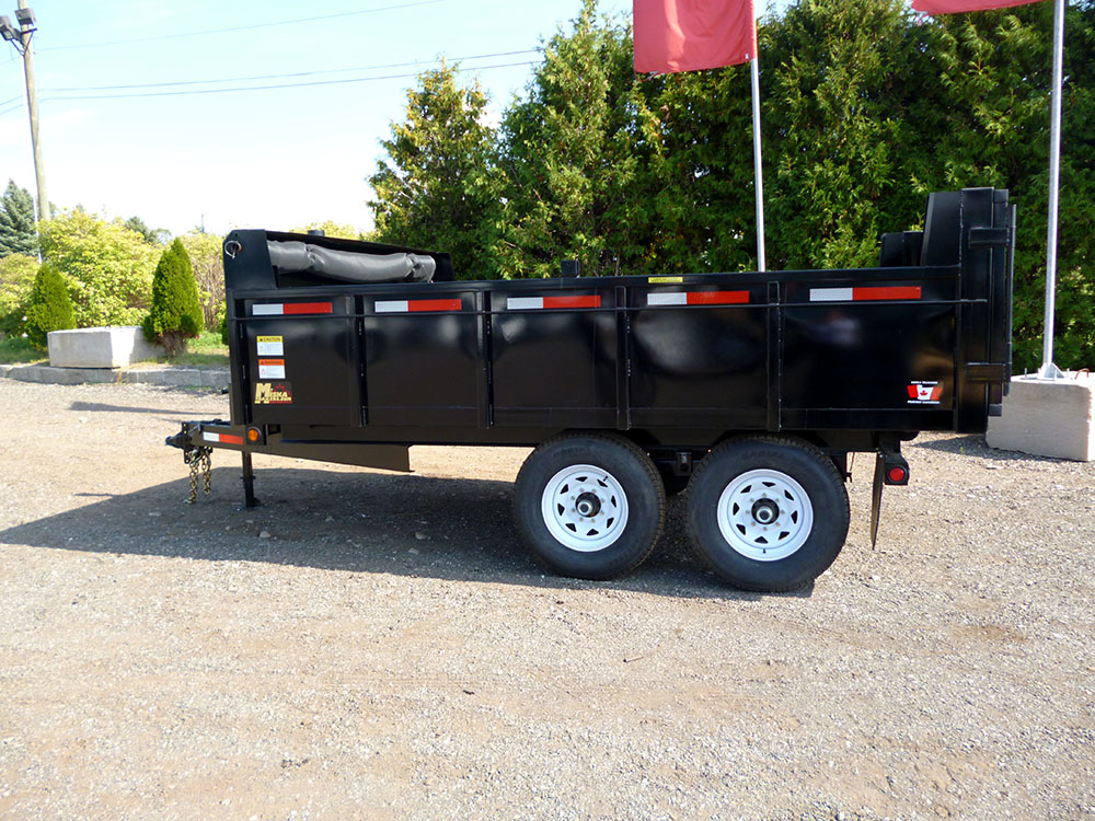 Front Mount Dump Trailers - 6 ton Deck Over Dump