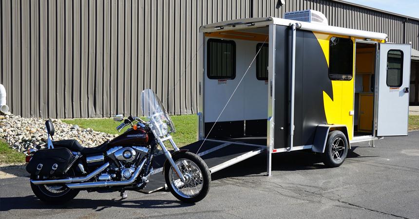 Motorcycle - 6 Wide Single Axle NAMR