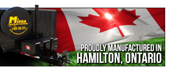 Miska Trailers are proudly manufactured in Hamilton, Ontario