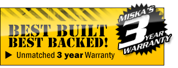 Miska Trailers come with unmatched 3 and 5 year warranties